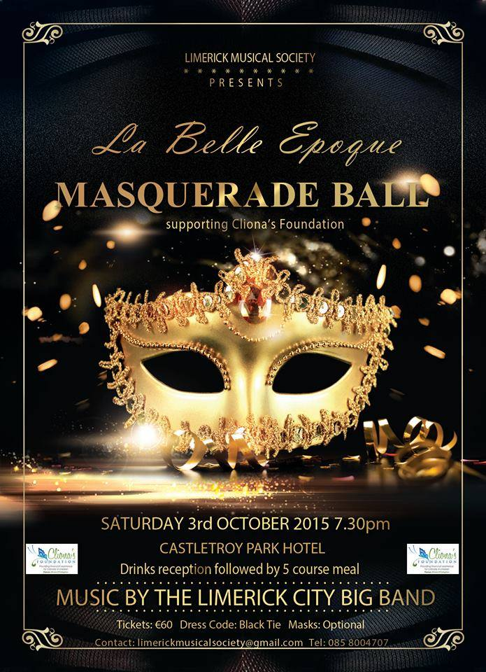 cliona s foundation chosen charity for masquerade ball family