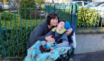 Tracy McGinnis with her son Brendan
