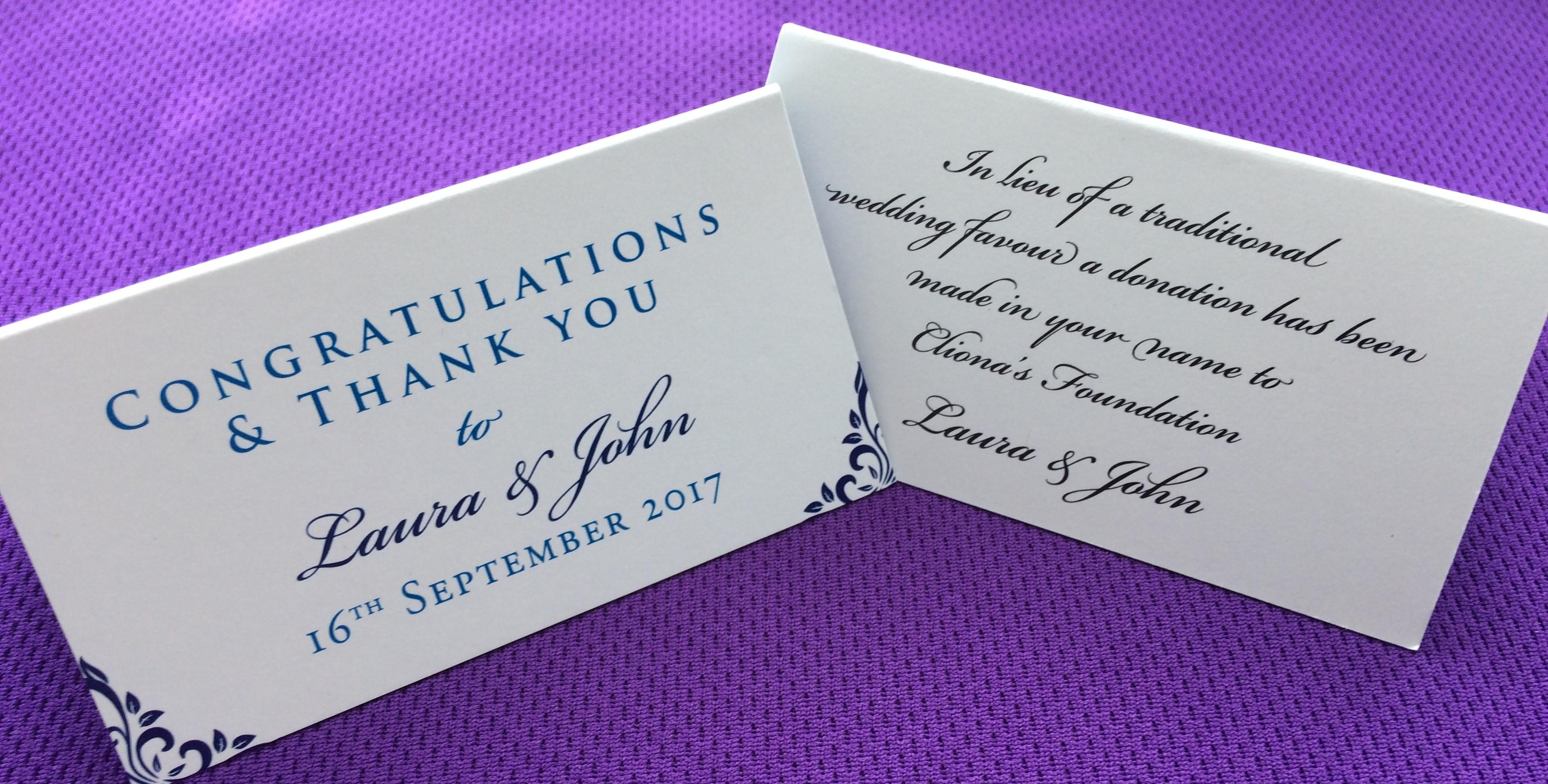 Wedding Favours Family Charity Ireland Clionas
